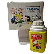Vintage Peanuts Vinyl Lunch Box& Thermos, 1973