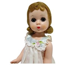 Madame Alexander Lissy Doll in Night Gown, 1950's