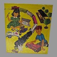1950's Saalfield Children's Puzzle, Still Sealed