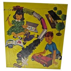 1950's Saalfield Children's Puzzle, Still Sealed