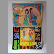 Donny & Marie Colorforms Dress-Up Set, 1977, Un-used!