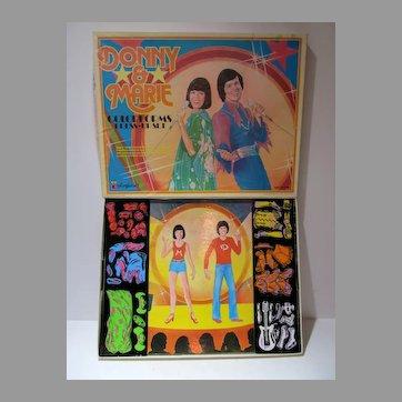 Donny & Marie Colorforms Dress-Up Set, 1977, Un-used!