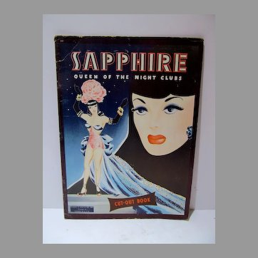 Super Rare Sapphire Queen of the Night Clubs Paper Doll Set, Un-Cut