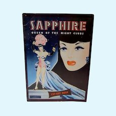 Super Rare Sapphire Queen of the Night Clubs Paper Doll Set, Un-Cut