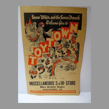 Rare 5 & Dime Store Toy Catalog, 1938-9