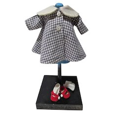 """Madame Alexander Outfit, """"Wendy's Coat For School"""", 1960, Complete"""