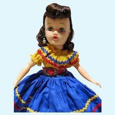 VIntage Brunette Little Miss Revlon in Calypso Outfit, 1950's