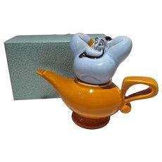 Aladdin Genie Salt&Pepper Shakers, MIB, Disney, 1980's