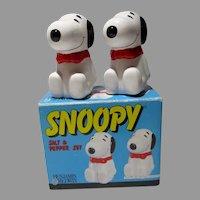 MIB Snoopy Salt&Pepper Set, 1993, Benjamin & Medwin