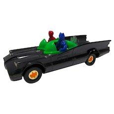 Batman Plastic Batmobile, 1975 Azrak Hamway with Figures