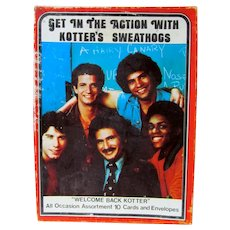 Welcome Back Kotter Boxes Greeting Cards, MIB, 1970's