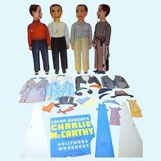 Original Charlie McCarthy Paper Dolls/Queen Holden, Cut