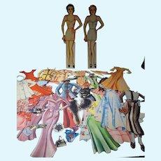 Vintage Ginger Rodgers & Janet Gaynor Paper Dolls, Cut, 1930's