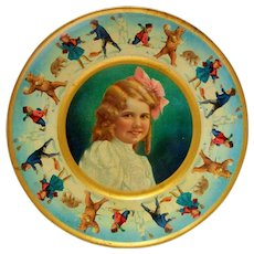Antique 8 Inch Union Pacific Tea Co. Litho Advertising Plate, 1907