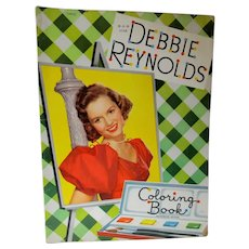 Vintage 1953 Debbie Reynolds Coloring Book, Un-Used, Whitman