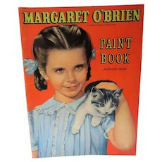 VIntage 1947 Margaret O'Brien Paint/Coloring Book, Whitman Pub.