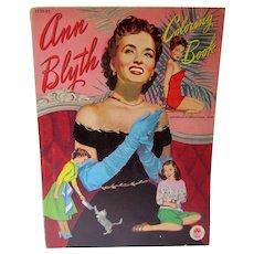 VIntage Merrill 1952 Ann Blyth Coloring Book