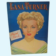 Vintage Lana Turner Paint/Coloring Book, Whitman. 1947