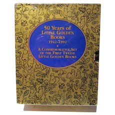 50 Years of Little Golden Books, 1942-1992 Commemorative Set, Sealed