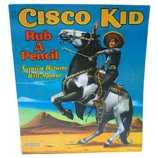 Vintage Cisco Kid Rub A Pencil/Coloring Book, Saalfield, 1950