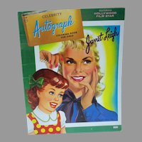 Vintage Janet Leigh Coloring Book, 1958