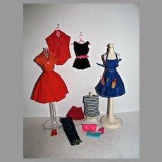 Vintage Mattel Barbie Pak Items, 1962 and 1963