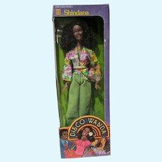 """NRFB DIsco Wanda 11 1/2"""" Black Fashion Doll, 1978"""