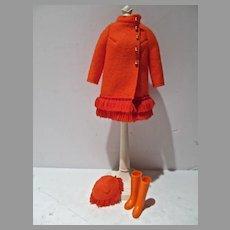 VIntage Barbie Outfit, Fiery Felt, Complete, 1970, Mattel