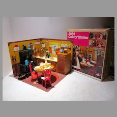 Jody's Country Kitchen Playset, Ideal Toys, 1975 w/ Box!