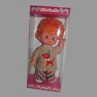 NRFB Big Eyed Doll Michelle, 1970's, Fun World