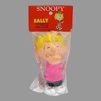 MIP Vintage Peanuts Character Sally, Vinyl Squeak Toy, 1984