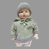 "American Character 12 1/2"" Petite Baby Doll Composition and Cloth Body 1920's"