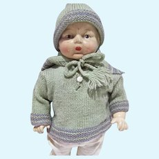 """American Character 12 1/2"""" Petite Baby Doll Composition and Cloth Body 1920's"""