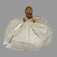 Nancy Ann Storybook Christening Baby Doll, 3 1/2 In., 1950