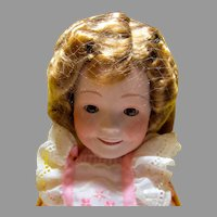 Vintage MIB Ideal Shirley Temple Porcelain Doll, 1982