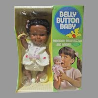 NRFB IDeal Black Belly Button Baby, Rare, 1971