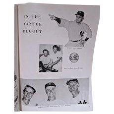 1955 World Series Program Brooklyn Dodgers vs. NY Yankee's, Ebbets Field