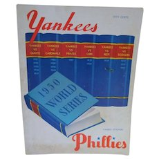 1950's World Series Program Yankees vs, Phillies, Yankee Stadium