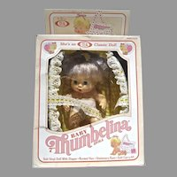 "MIB Ideal 7"" Baby Thumbelina Doll,  1982-83"