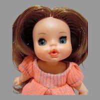"Adorable 1960's 6 1/2"" Laura Doll, Le Minibambole"