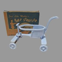 MIB Baby Stroller, Jeryco Product, 1950's, Doll House Toy