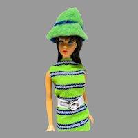 Vintage Mattel 1968 TNT Barbie Brunette in Now Knit