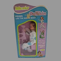 Vintage Little Miss Dollikin, Uneeda, NRFB, 1971