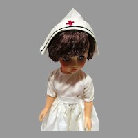 Vintage 1960's 14R Nurse Doll, All Original