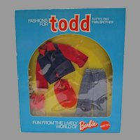 Vintage Mattel Todd Outfit, Dressed Well, 1975, Euro Market