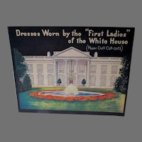 Mint Un-Cut First Ladies of the White House Paper Dolls, Saalfield, 1937