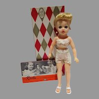 MIB Ideal Blond Little Miss Revlon Doll, 1950's