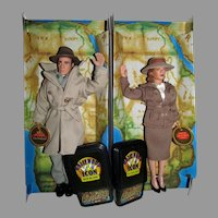 NRFB Exclusive Premiere 1998 Casablanca Bogart & Bergman Dolls