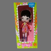 Rare Ginagirl Violet, Ltd. Edition, Big Eye Doll by Gina Garon