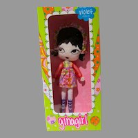 Rare Ginagirl Violet, Ltd. Edition, Big Eye Doll by Gina Garon